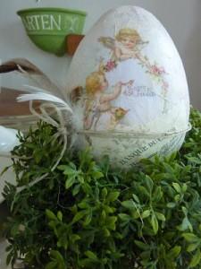 Melontha: Bastelidee Vintage-Eier