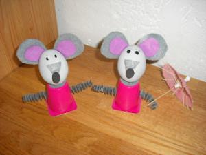Moppeline: Bastelidee Maus