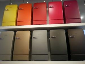 Farbige Kühlgeräte liegen derzeit im Trend