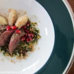 Rehfilet mit Sellerie-Pesto und -Püree von Essen und Lieben
